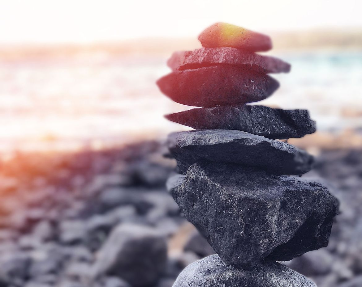 stacked rocks, tranquil scenery